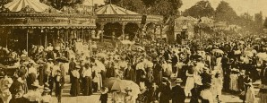 St Giles' Fair, Oxford, Oxfordshire. From an early 20th century postcard.
