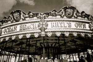 The three-abreast gallopers at Rhyl owned by Paulius Robinson (born 1908), a member of the Robinson family that belonged to the Gypsy community at South Shore, Blackpool, Lancashire.