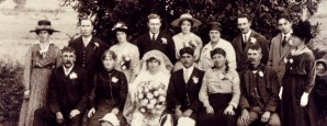 The marriage of Theodore Diaper and Dora Smith, Tunstall, Suffolk, 1919.